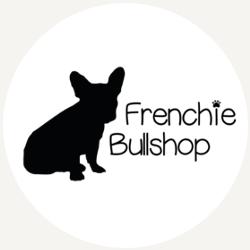 Frenchie Bullshop rond 250x250 met grijs