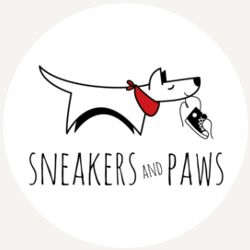Sneakers and paws